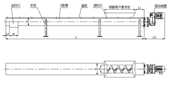 无轴螺旋输送机设计